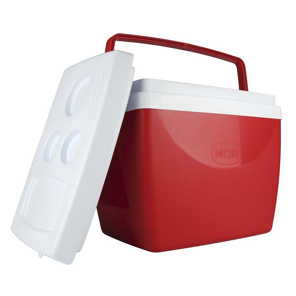 Caixa Térmica Cooler 34L  - Vermelho  - Pensou Filtros