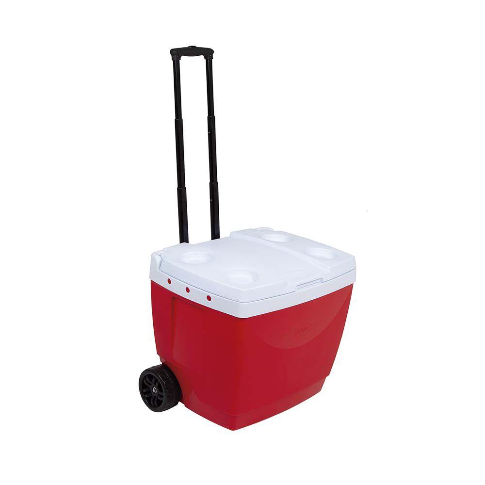 Caixa Térmica Cooler 42L  - Vermelho  - Pensou Filtros