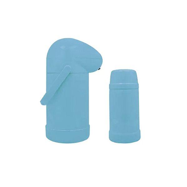 Conjunto de Garrafa Térmica e Garrafa Mini Mor - Céu Azul - Nobile  - Pensou Filtros