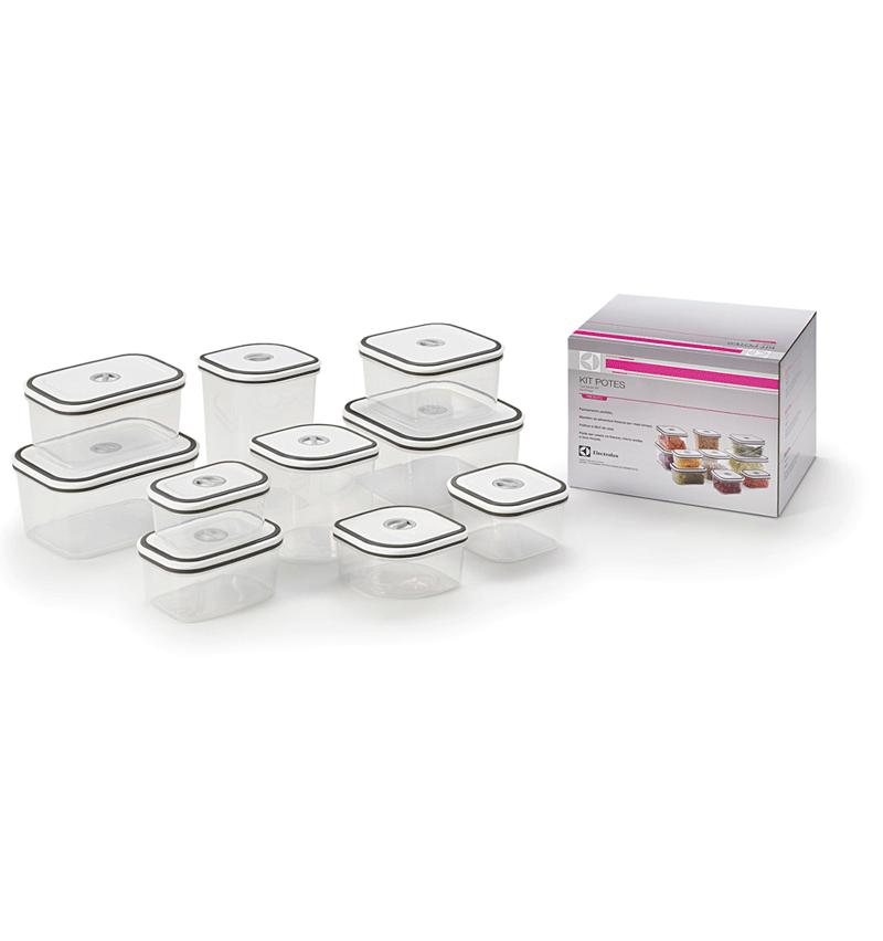 Conjunto de Potes Herméticos para Cozinha com Tampa 10 Peças - Electrolux  - Pensou Filtros