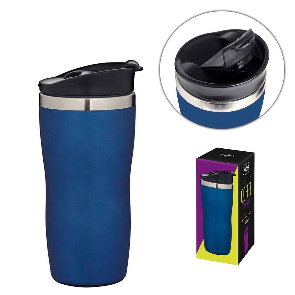 Copo Aço Inox 450ml Coffee To Go - Azul  - Pensou Filtros
