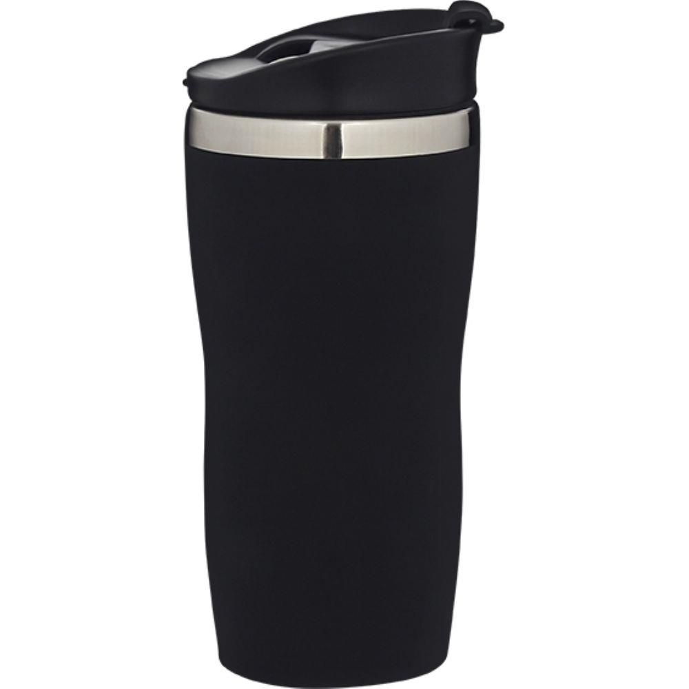 Copo Aço Inox 450ml Coffee To Go - Preto  - Pensou Filtros