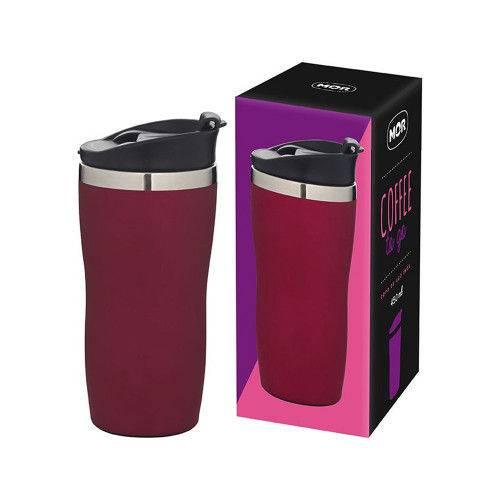 Copo Aço Inox 450ml Coffee To Go - Rosa  - Pensou Filtros