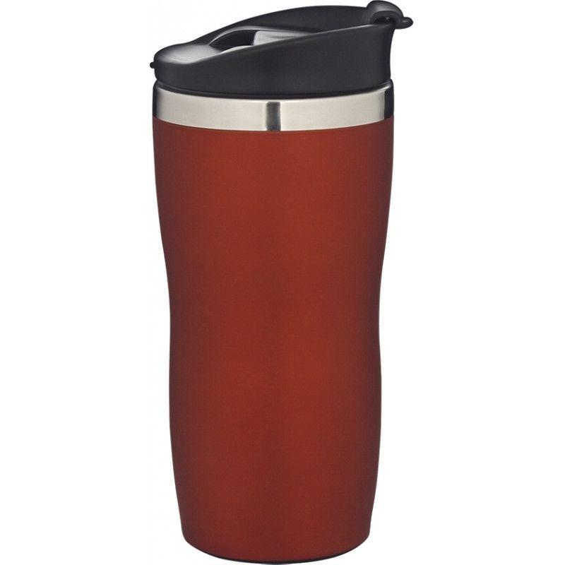 Copo Aço Inox 450ml Coffee To Go - Vermelho  - Pensou Filtros