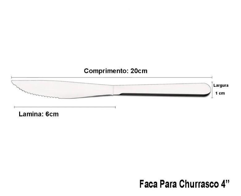 Faqueiro Tramontina Búzios em Aço Inox com Detalhe 24 Peças  - Pensou Filtros