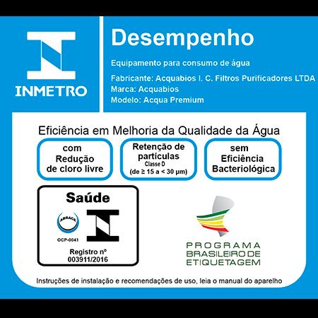 Filtro Acquabios Acqua Premium Single Preta  - Pensou Filtros