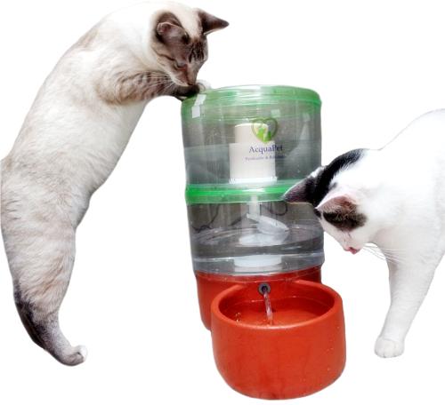 Filtro Bebedouro AcquaPet 8 litros 1 vela Fumê - cachorros e gatos  - Pensou Filtros