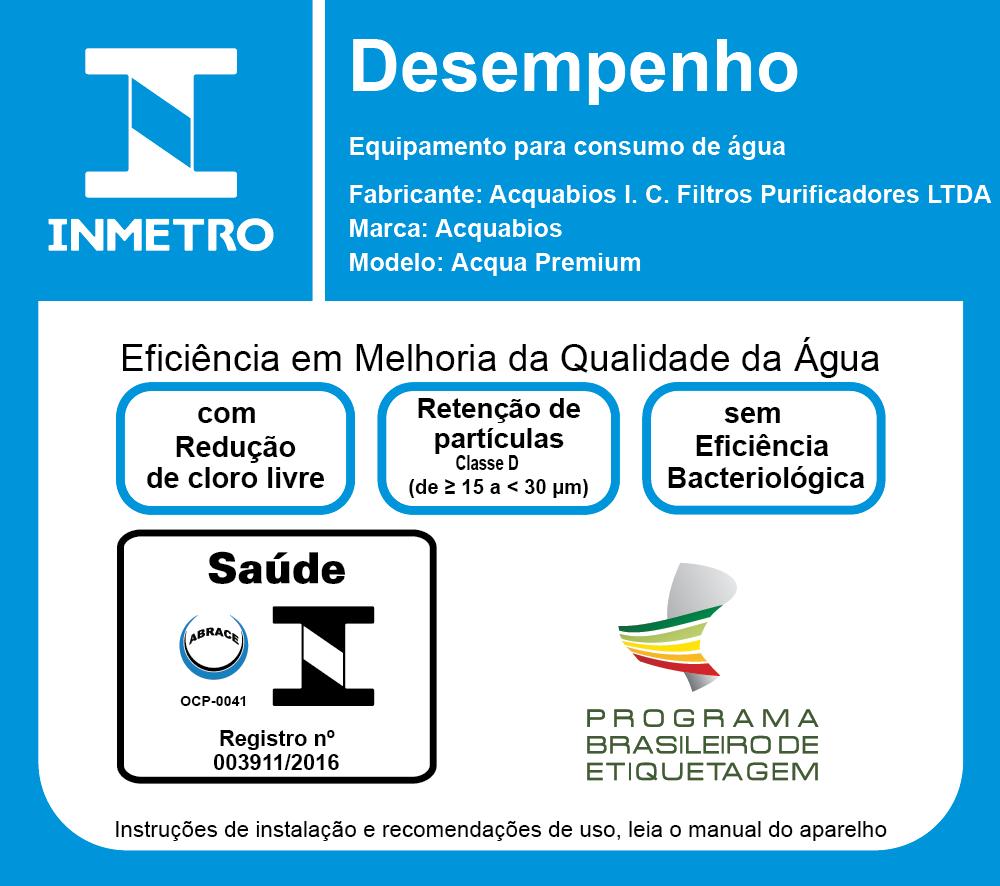 Filtro com Torneira Acquabios Premium - Preta Dourada  - Pensou Filtros