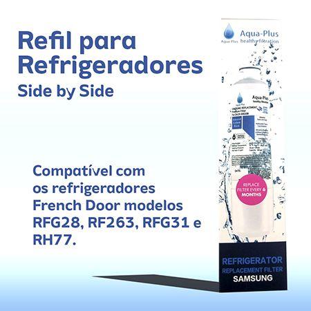 Filtro De Água Geladeiras Side By Side Samsung - Importado HAF-CIN/EXP - Da29 00020b frent door  - Pensou Filtros