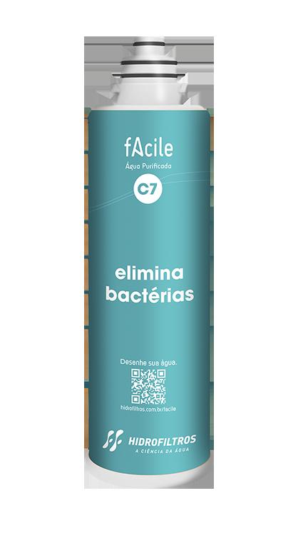 Filtro Facile C7 - Elimina as Bactérias - Hidrofiltros   - Pensou Filtros