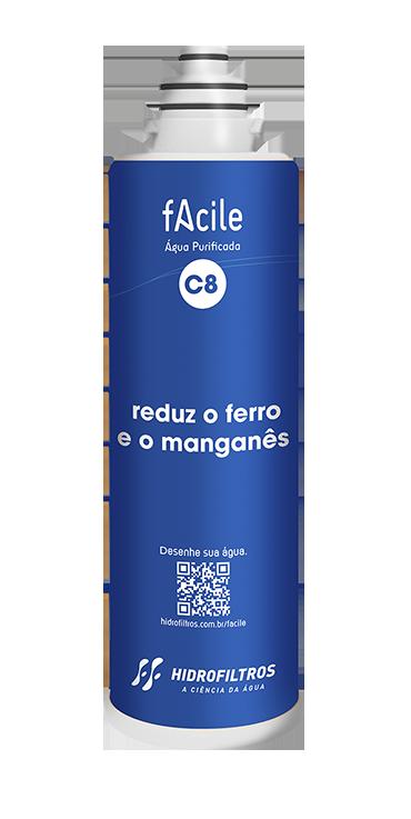 Filtro Facile C8 - Reduz o Ferro e o Manganês - Hidrofiltros   - Pensou Filtros