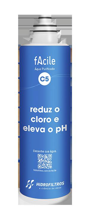 Filtro Facile C5 - Reduz o Cloro e Eleva o pH - Hidrofiltros   - Pensou Filtros