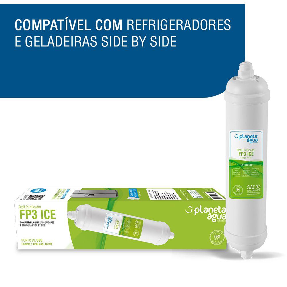 Filtro Refil para Geladeiras FP3 Ice Multimarca  - Pensou Filtros