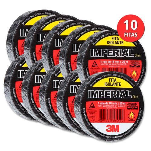 Fita Isolante 3M - Slim (18mm x 10m) - KIT COM 10 UNIDADES  - Pensou Filtros