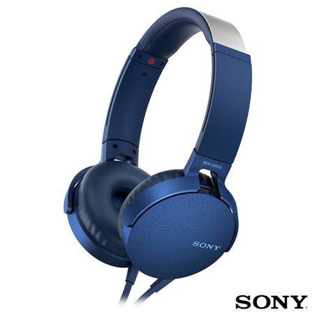 Fone de Ouvido Sony - MDR-XB550AP - AZUL  - Pensou Filtros