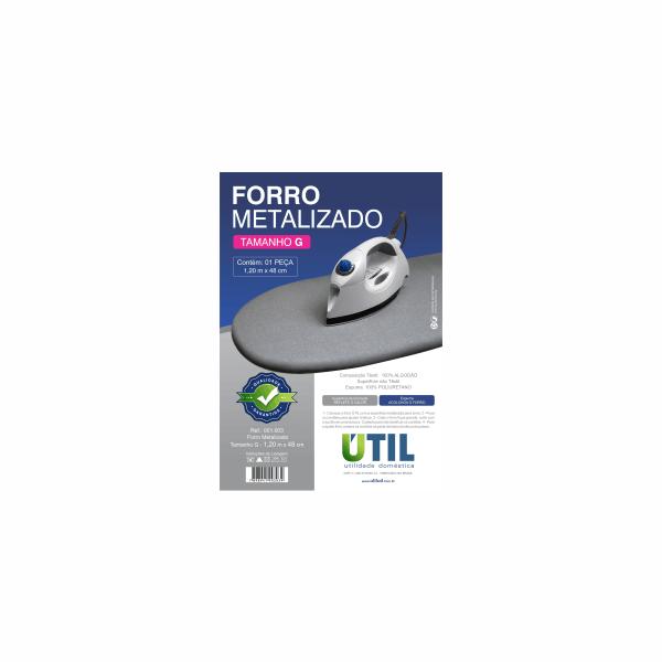 Forro Metalizado para Mesa de passar Roupas - Util Tamanho M  - Pensou Filtros