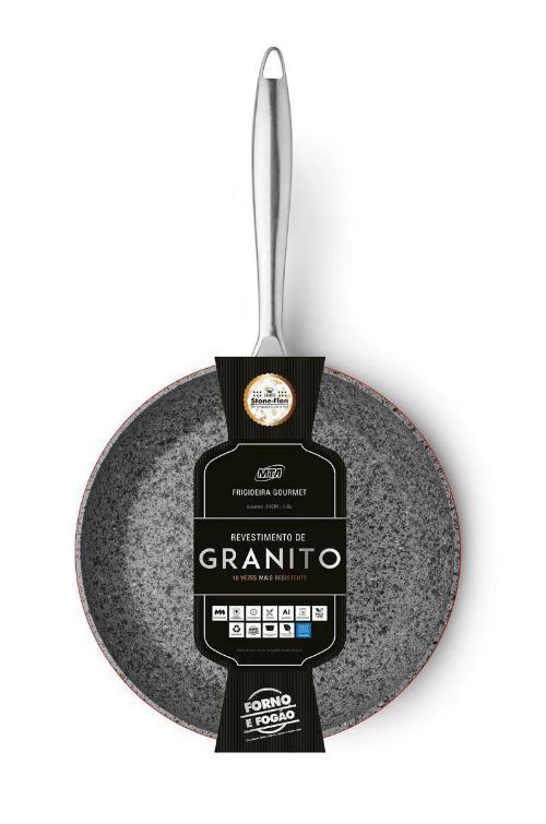 Frigideira Gourmet Granito Stone Flon - MTA (Nº26)  - Pensou Filtros
