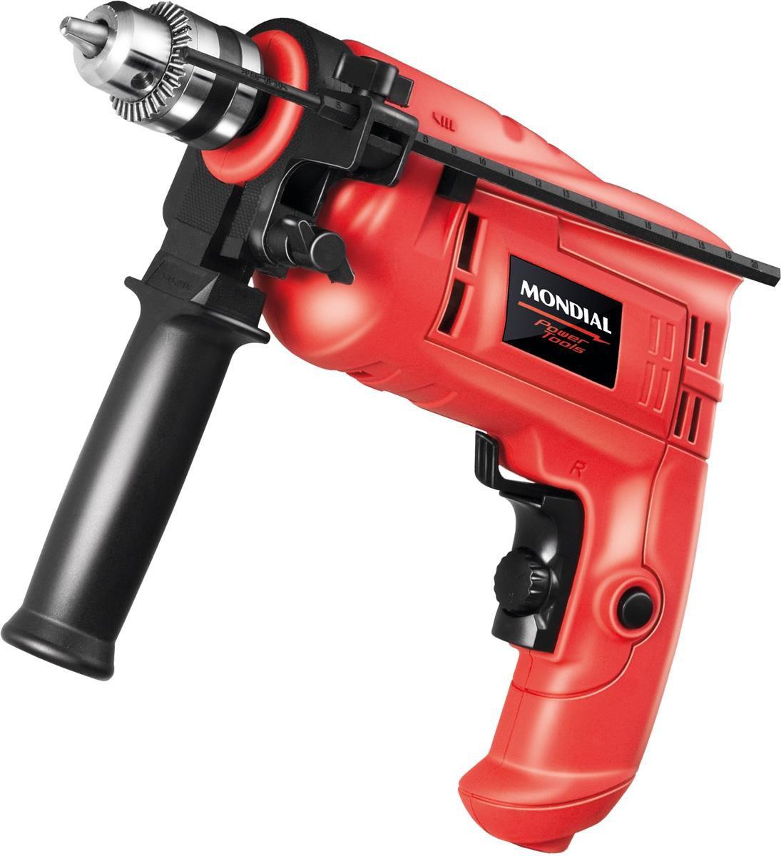 """Furadeira de Impacto 3/8""""(10mm) 600W Power Tools - Mondial  - Pensou Filtros"""