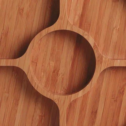 Gamela com 5 Divisórias Bamboo para Churrasco  - Pensou Filtros