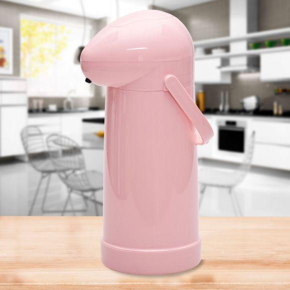 Garrafa Térmica de Pressão (1L) - Rosa  - Pensou Filtros