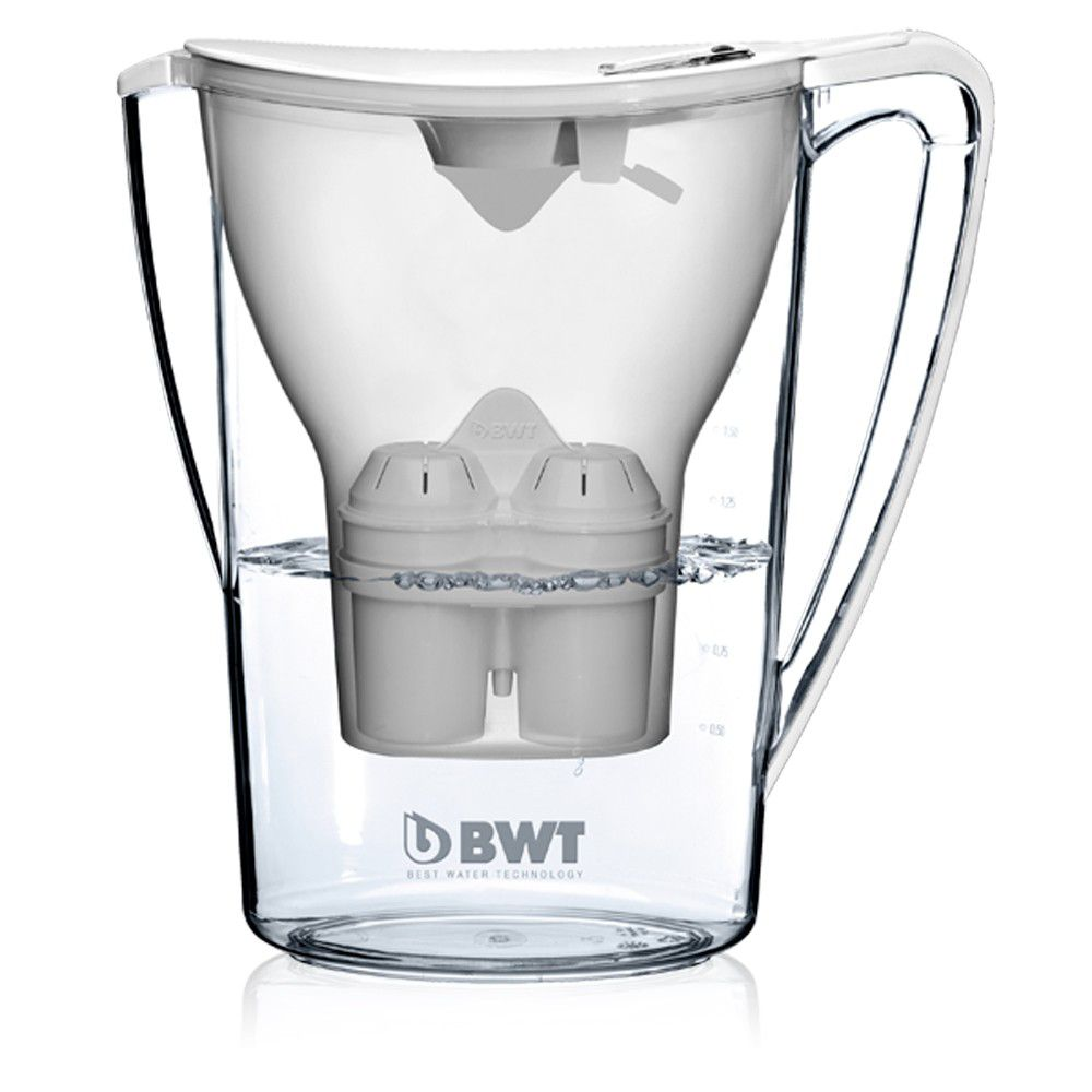 Jarra com Filtro BWT  Branca - adição de magnésio  - Pensou Filtros