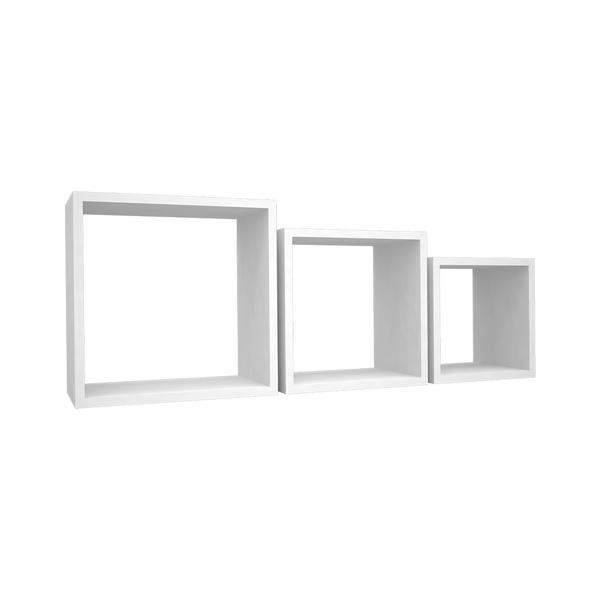 Kit 3 nichos quadrados branco  - Pensou Filtros