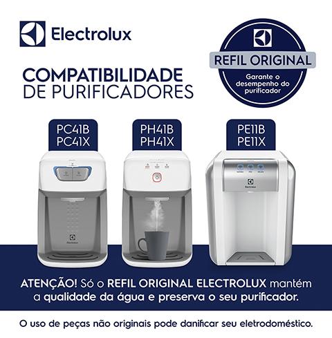 Kit 3 Refis De Água Para Purificador Electrolux Pe11b/pe11x/pc41b/pc41x/ph41b/ph41x  - Pensou Filtros
