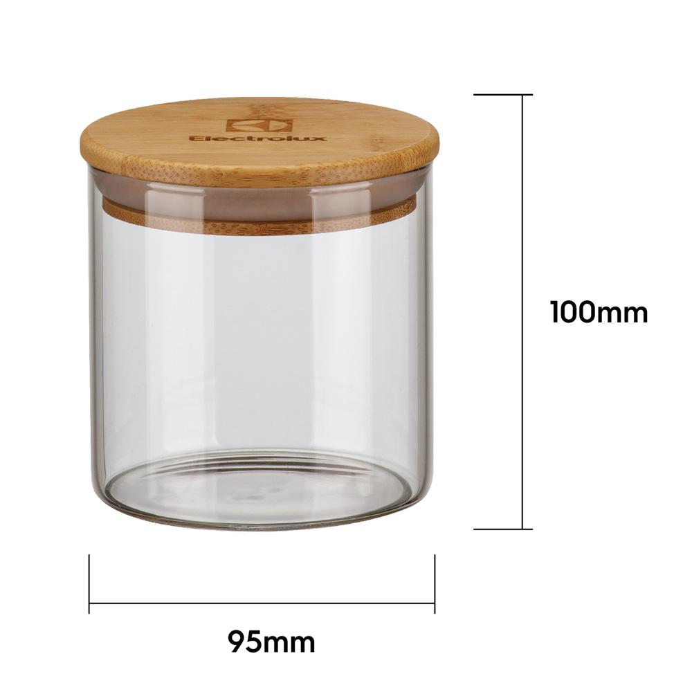 Kit Potes De Vidro Herméticos Tampa em Bambu 4 Unid. Electrolux  - Pensou Filtros