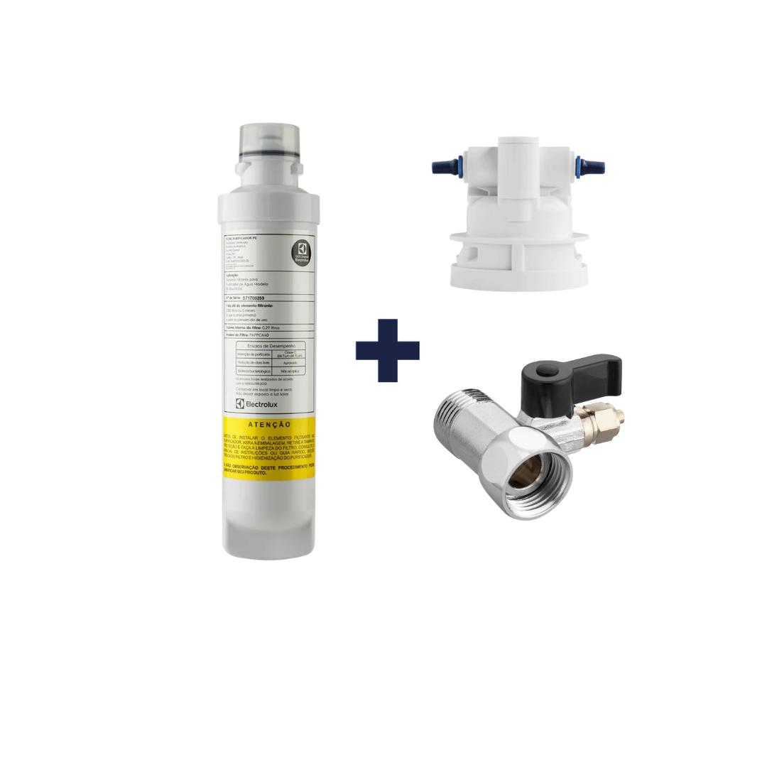 Kit Refil PE11B Electrolux + Cabeçote e adaptador  - Pensou Filtros