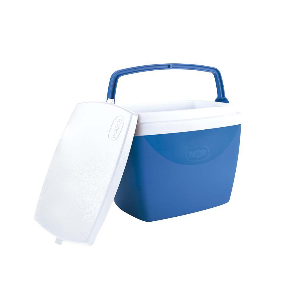 Kit Verão Mor 2 Cadeiras + 1 Caixa Térmica Cooler Azul  - Pensou Filtros