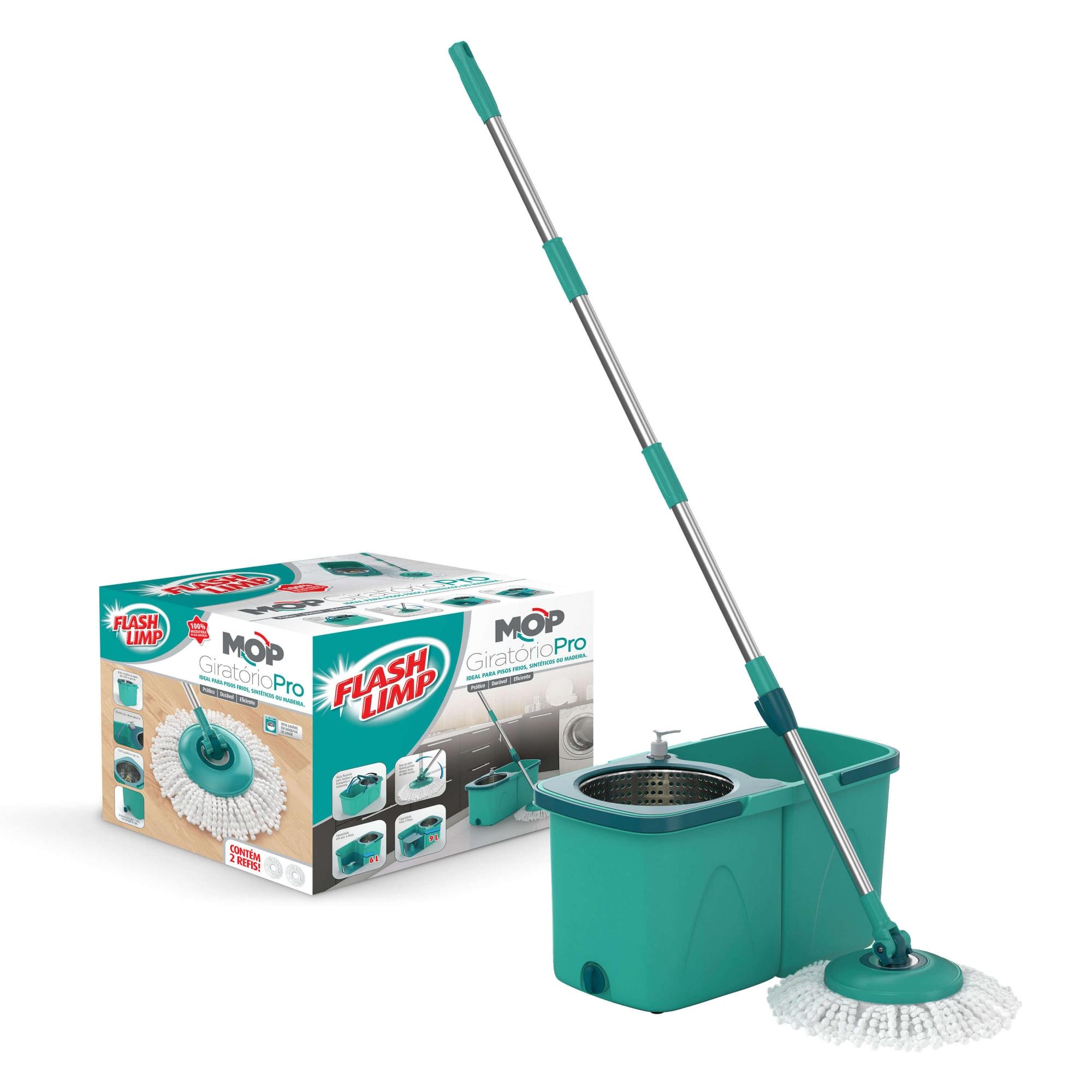 Mop Giratório Pro - Flash Limp  - Pensou Filtros
