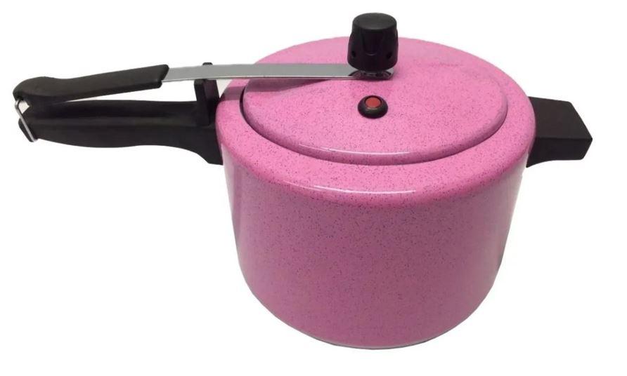 Panela de pressão Alusol rosa 4,5  - Pensou Filtros