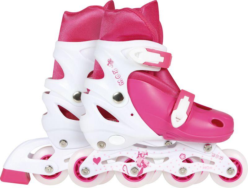 Patins Roller Infantil Rosa Tamanho M 34-37  - Pensou Filtros