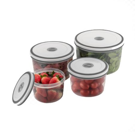 Potes Redondos Herméticos de Plástico - 4 Unidades Electrolux  - Pensou Filtros