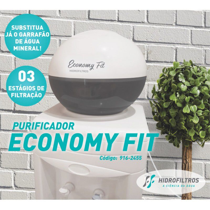 Purificador de água economy fit - Hidrofiltros  - Pensou Filtros