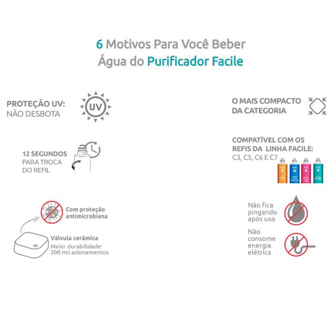 Purificador de Água Facile Hidrofiltros - Preto  - Pensou Filtros