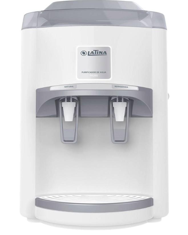Purificador de Água Latina PA355 Refrigerado com compressor Branco 110v  - Pensou Filtros