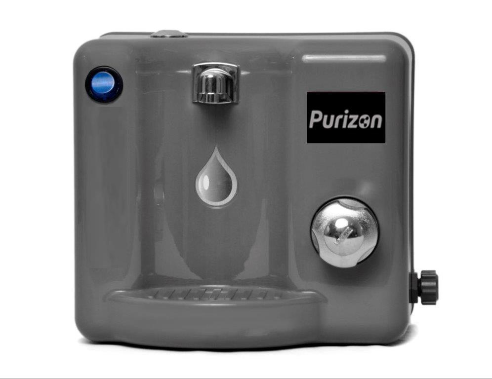 Purificador de Água Natural Purizon Bello Ozônio, Alcalino e Bacteriológico - Cinza 127v  - Pensou Filtros