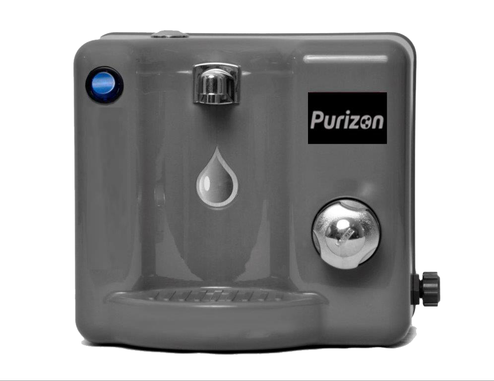 Purificador de Água Natural Purizon Bello Ozônio, Alcalino e Bacteriológico - Cinza 220v  - Pensou Filtros