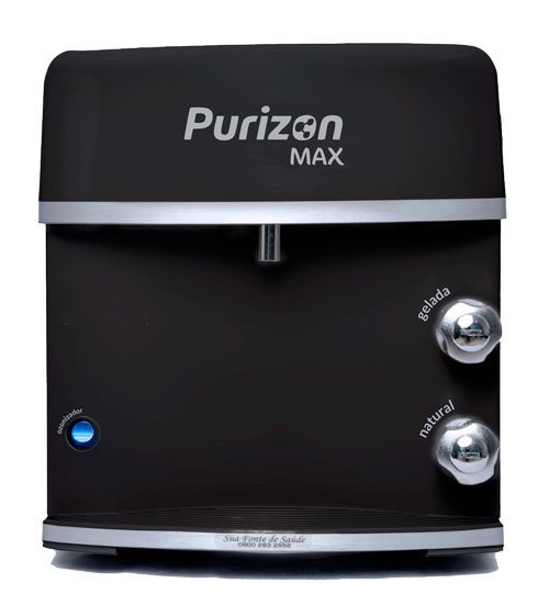 Purificador de Água Geladal Purizon Max Ozônio, Alcalino e Bacteriológico - Preto 220v  - Pensou Filtros