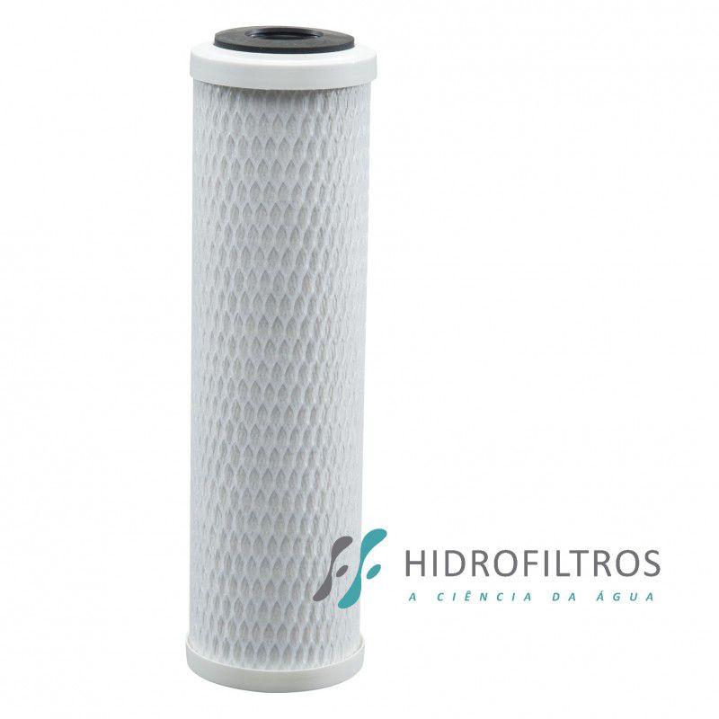 "Refil Carbon Block 9.3/4"" Hidrofiltros Pentair  - Pensou Filtros"