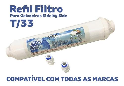 REFIL DE GELADEIRA T/33 + CONECTORES **** 2 UNIDADES****  - Pensou Filtros