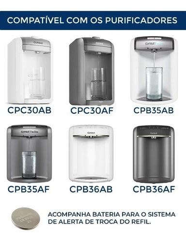 Refil Purificador Acqua CS - Compativel com Consul CPC30AB, CPC30AF, CPB35AB, CPB35AF-ML  - Pensou Filtros