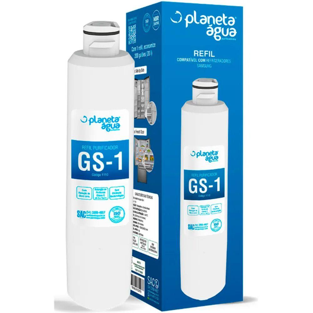 Refil Filtro Planeta água Interno GS-1 para Geladeira Refrigerador Samsung Side HAF-CIN/EXP (Compatível)  - Pensou Filtros