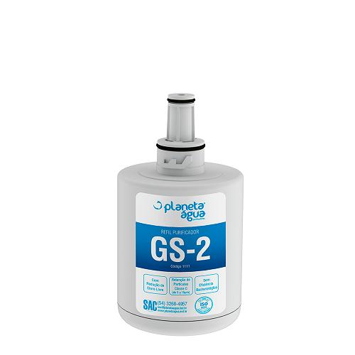 REFIL GS-2 (COMPATÍVEL COM GELADEIRAS SIDE BY SAMSUNG)  - Pensou Filtros