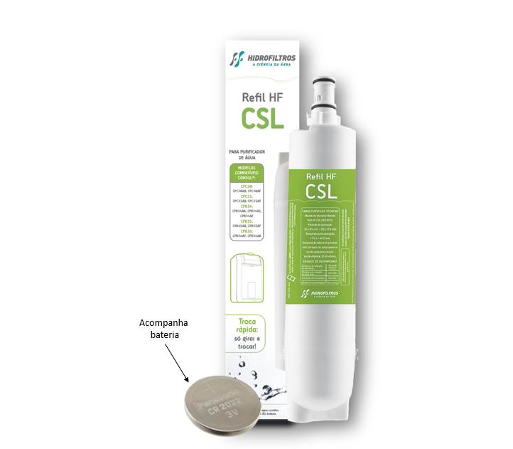 Refil HF-CSL - Similar Consul  - Pensou Filtros