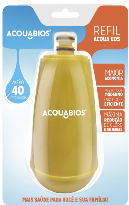 Refil para Torneira com Filtro Acquabios E05 – Amarelo  - Pensou Filtros