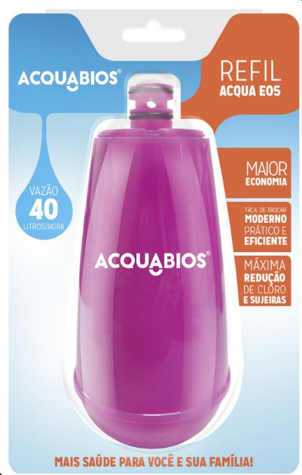 Refil para Torneira com Filtro Acquabios E05 – Rosa  - Pensou Filtros