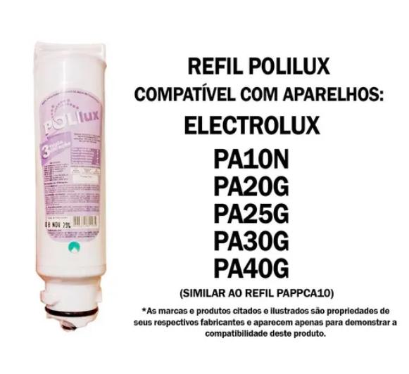 Refil PoliLux Similar Electrolux PA10N, PA20G, PA25G, PA30G e PA40G  - Pensou Filtros