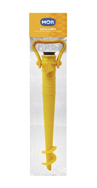 Saca-Areia com Suporte para Guarda-Sol - Amarelo  - Pensou Filtros